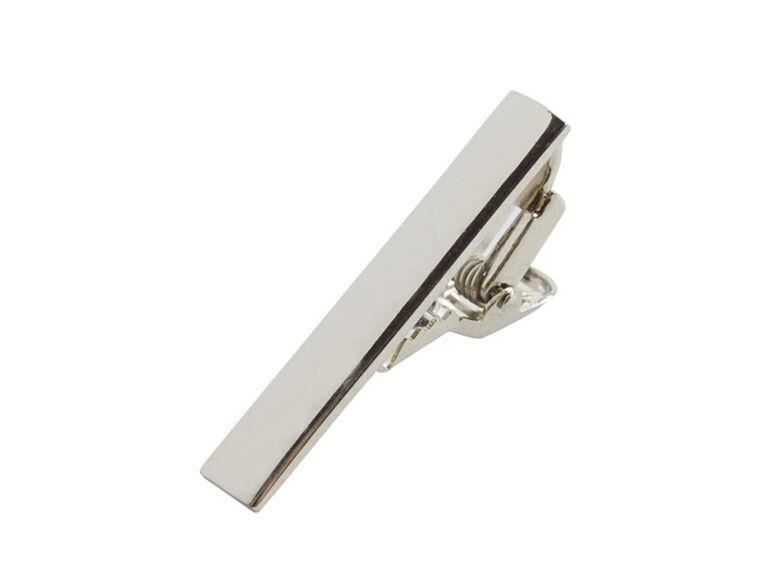 tie bar silver shot tie clip