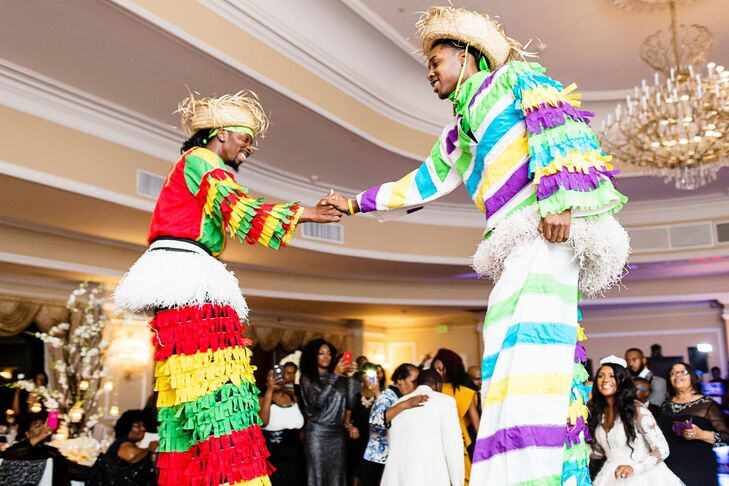 Caribbean Stilt Performers at Reception