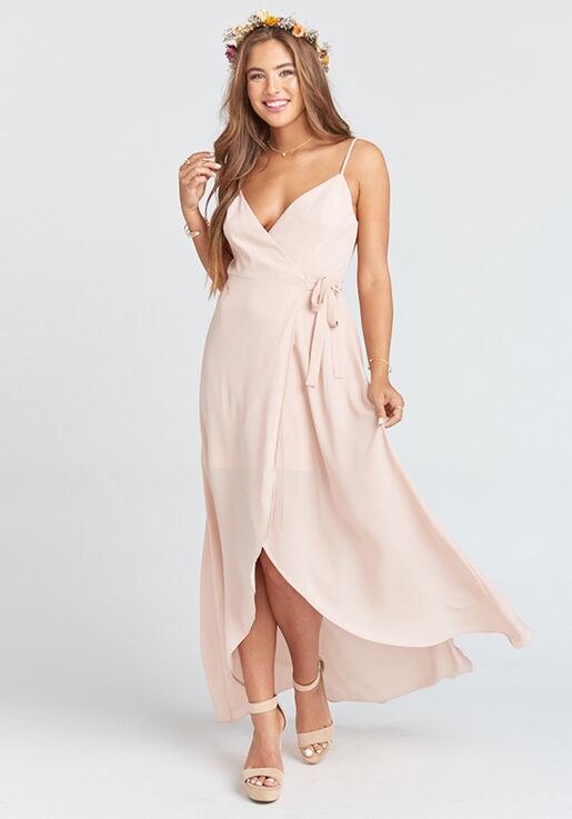 610d299d69b Show Me Your Mumu Mariah Wrap Dress - Dusty Blush Crisp V-Neck Bridesmaid  Dress