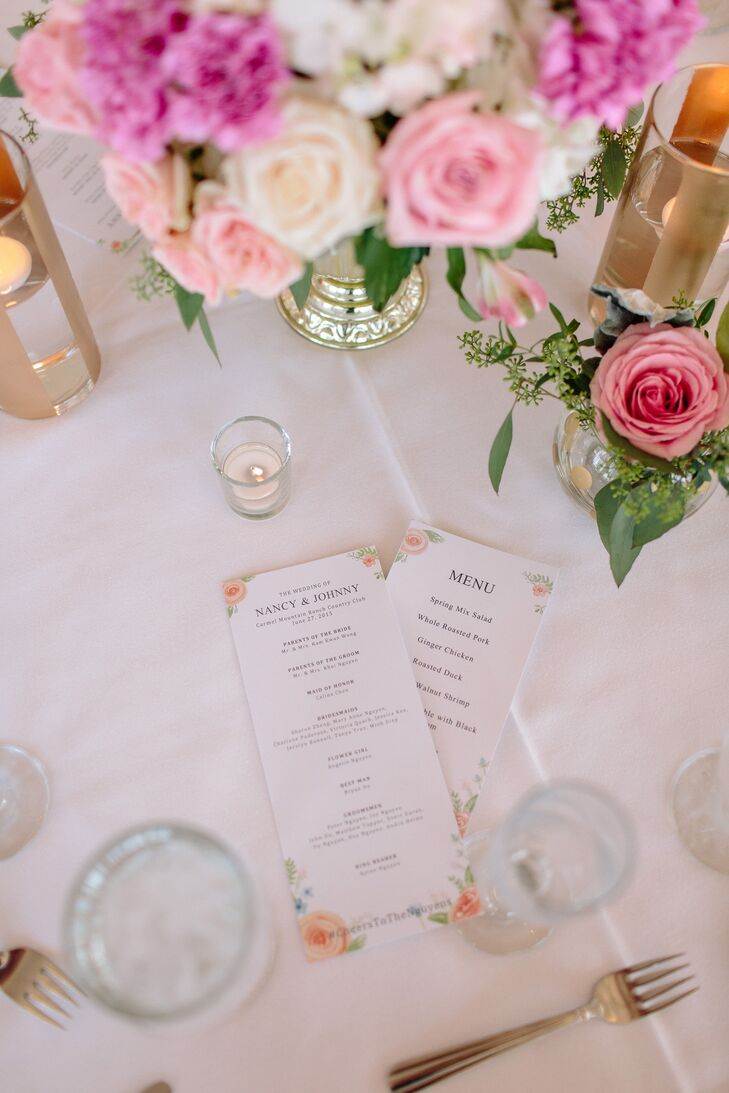 Nancy and Johnny found their menu cards on Etsy.