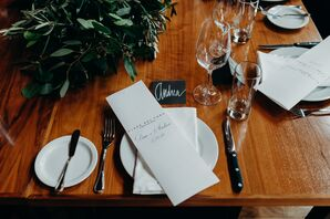 Casual Place Settings on Wood Table