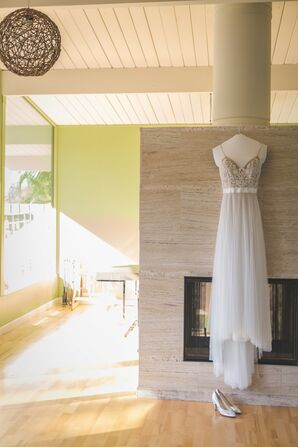 White Tulle Wedding-Dress Skirt