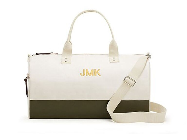 The Knot Shop Off We Go canvas weekend bag
