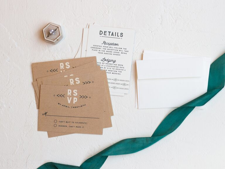 Colorful RSVP card