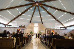 Modern Cure of Ars Catholic Church Wedding Ceremony
