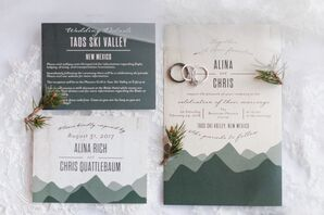 Modern Mountain-Themed Wedding Invitations