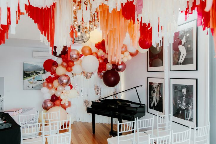 Balloon Display at at Wedding Ceremony in Australia