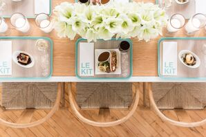 Playful Place Setting with Turquoise Details