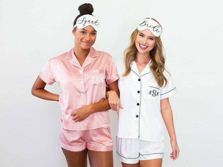 Bridesmaid pajama monogram pajama set monogram bridesmaid pajama monogram pj Monogram pajama bridesmaid pj pj set