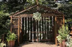 Rustic Outdoor Ceremony with Hanging Decor