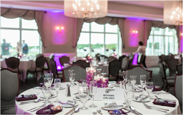 Modern Purple Wedding Reception