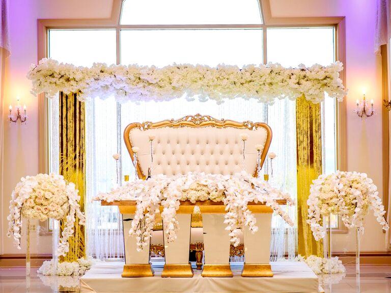 An Opulent Sweetheart Setup - over-the-top wedding ideas