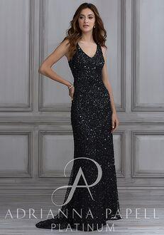 Adrianna Papell Platinum 40106 V-Neck Bridesmaid Dress