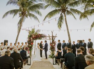 Michelle	Hanko dreamed of getting married on the beach since she was a little girl, and her wish came true at her tropical destination wedding to Jeff