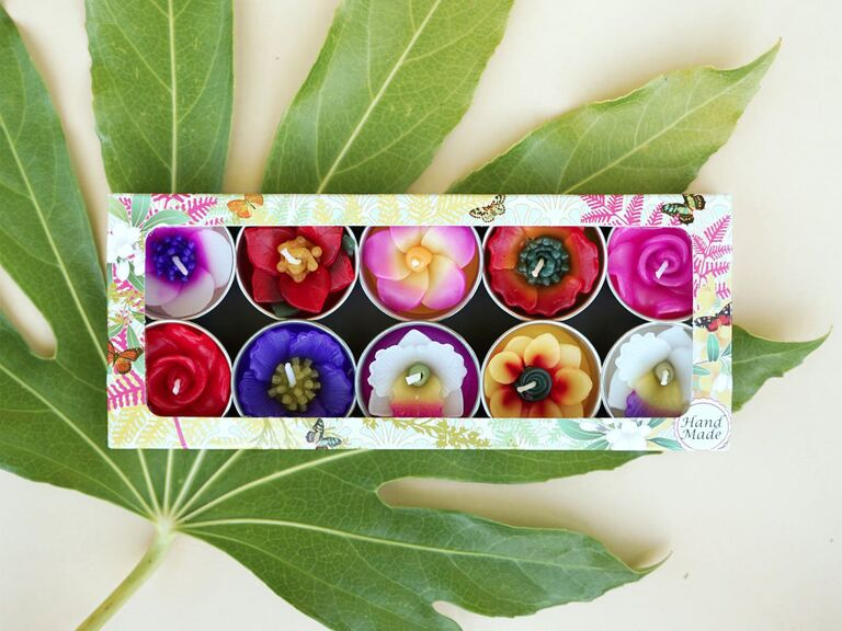 Tropical scented tealights