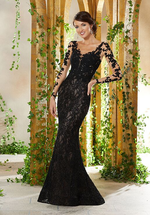 MGNY 71929 Black Mother Of The Bride Dress