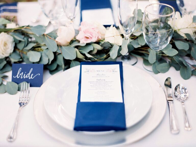 Wedding rehearsal dinner place setting & Wedding Rehearsal Dinner Basics