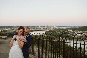 Modern Couple in Cincinnati Park with Skyline Views