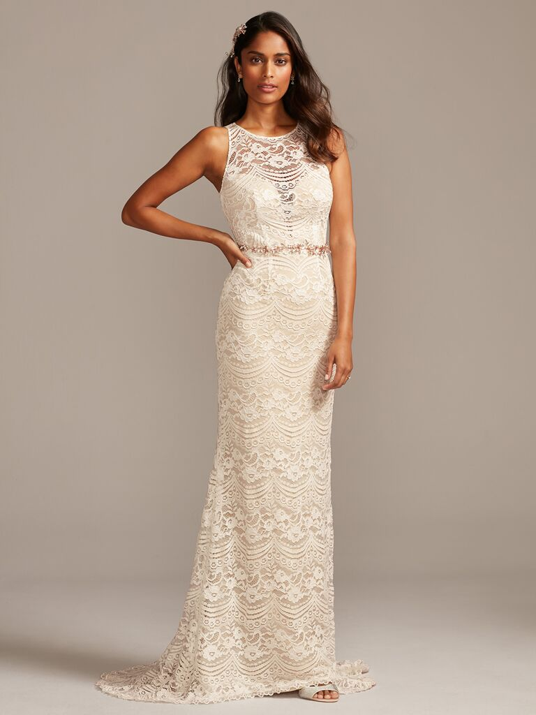 Melissa Sweet lace sheath wedding dress