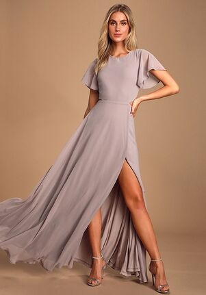 Lulus Garden Bliss Dusty Lavender Cutout Maxi Dress Bateau Bridesmaid Dress