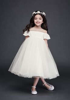 David's Bridal Flower Girl David's Bridal Style WG1405 Ivory Flower Girl Dress