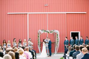 Casual Farm Wedding Ceremony at Robin Hill