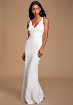 Lulus Melora White Sleeveless Maxi Dress Mermaid Wedding Dress