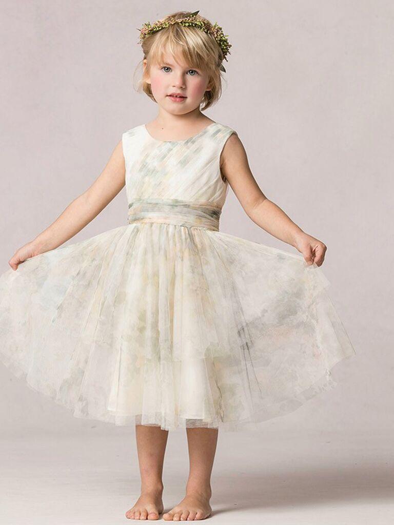 Jenny Yoo Etsy print tulle flower girl dress