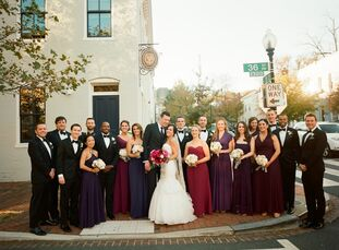 Monica Kohli (33 and a strategy consultant) and Joshua (Josh) Riley (35 and a lawyer) celebrated with a black-tie soiree decked in lavender, berry, fu
