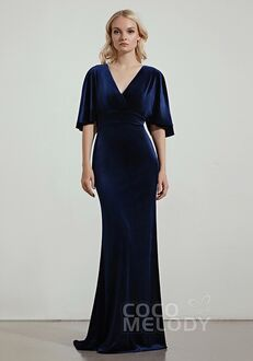 CocoMelody Bridesmaid Dresses RB0320 V-Neck Bridesmaid Dress