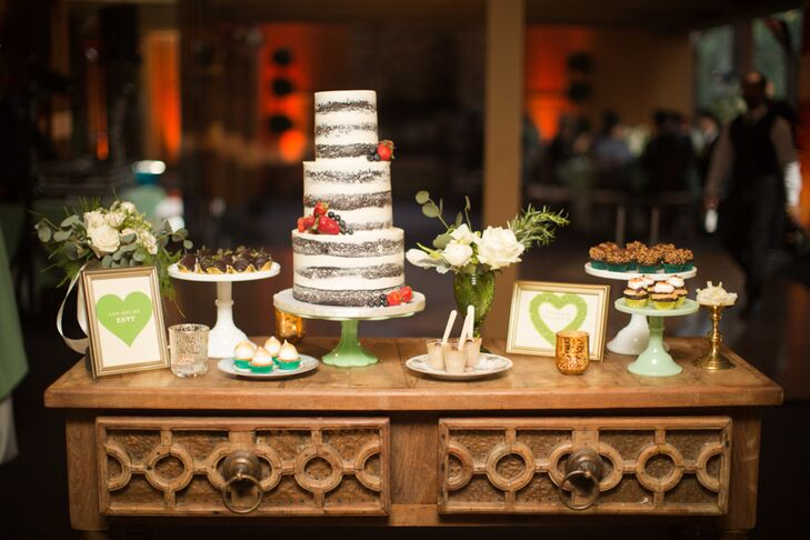 """We had a dessert bar instead of a cigar bar, since we felt our guests would enjoy desserts more than cigars and cocktails,"" says Woo Jin,  who chose cupcakes and chocolate-dipped fruit from Sweet and Saucy Shop in Long Beach, California."