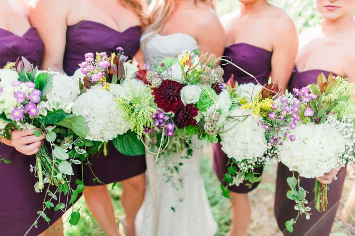"""Cory spent the day before the wedding putting together the bouquets with her mom and sister. """"Not only did they turn out amazing, but it also gave me a chance to spend time with them on such an important weekend of my life!"""""""