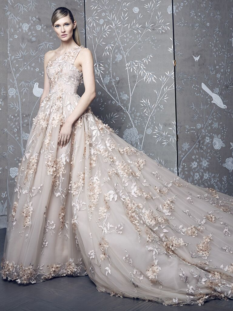 Romona Keveza Collection Fall 2018 Wedding Dress With Allover Embellishments