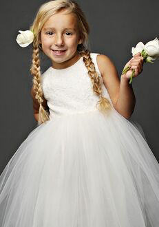 FATTIEPIE Snow Flower Girl Dress