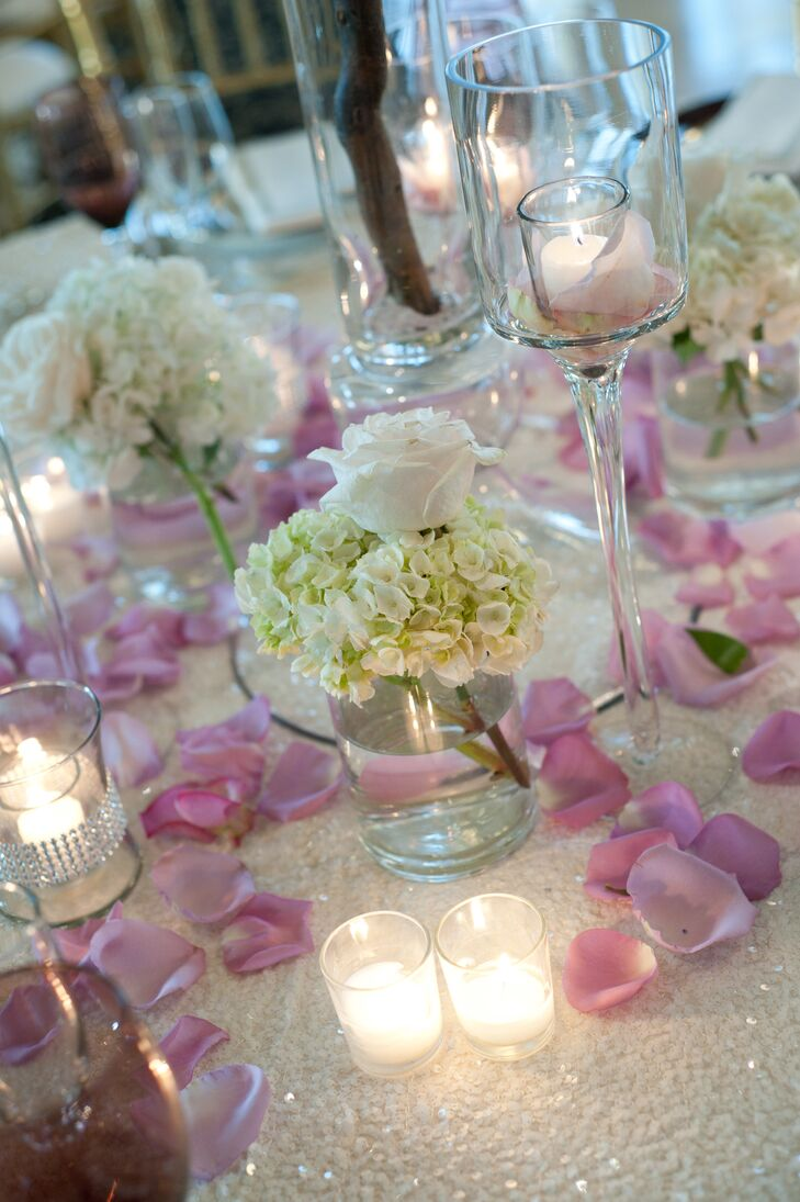 Ivory and Lavender Candlelit Table Decor