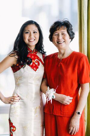 Traditional Chinese Qipao Wedding Dress