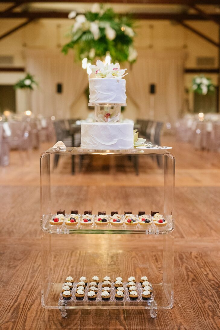 Cake Display During Reception at Pippin Hill in Charlottesville, Virginia