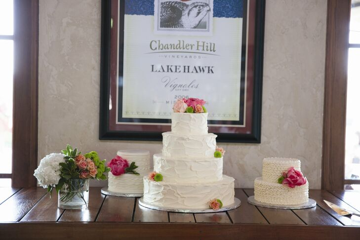 Spackled and Ruffled Wedding Cakes