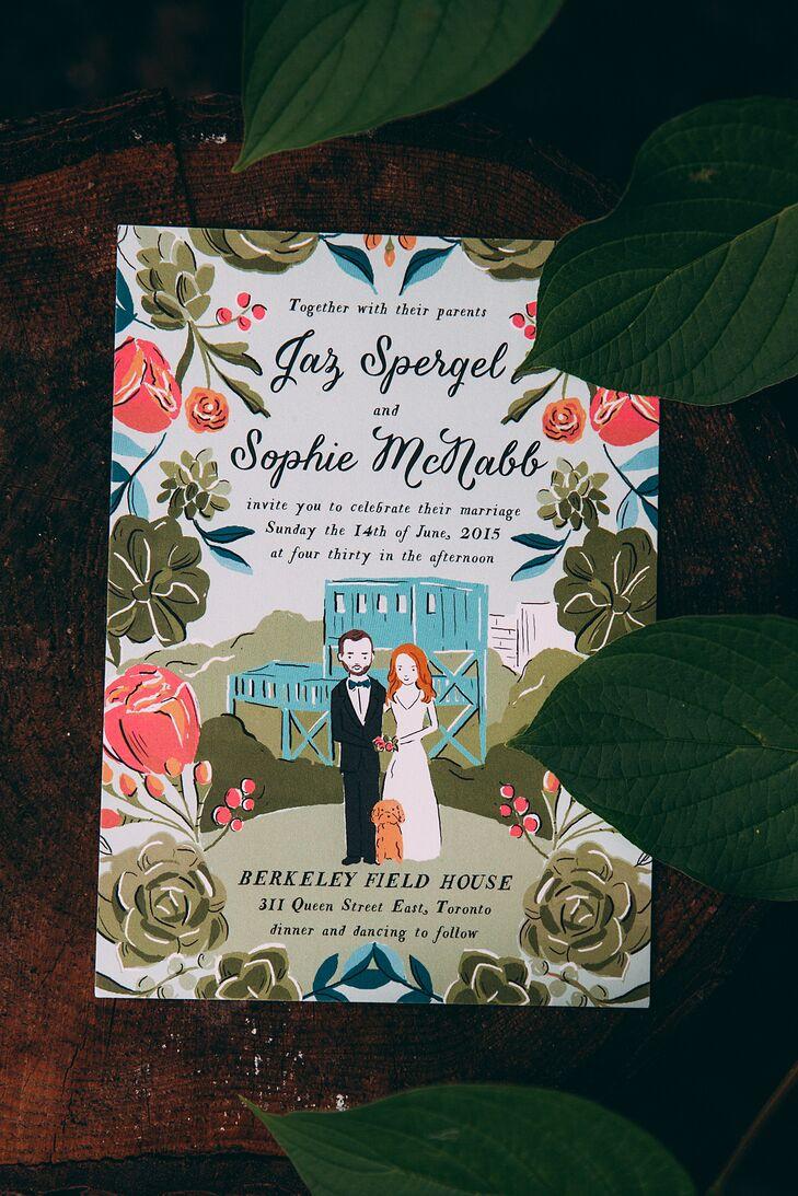 Custom Illustrated Wedding Invitation