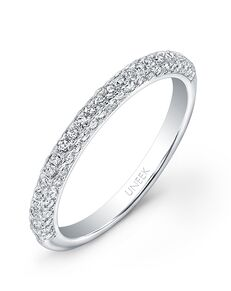 Uneek Fine Jewelry UWB08 White Gold Wedding Ring