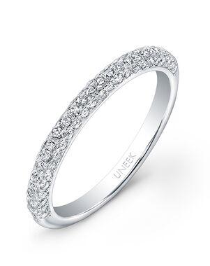 Uneek Fine Jewelry UWB08 White Gold Wedding Ring