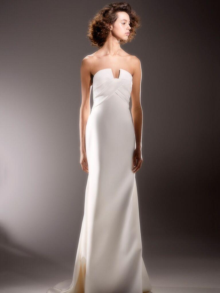 Viktor & Rolf Spring 2020 Bridal Collection strapless column wedding dress