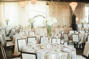 Tall Hydrangea Centerpieces with Branches