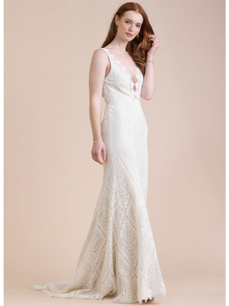 Willowby sleeveless lace sheath wedding dress