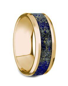 Mens Tungsten Wedding Bands G1285-YGLL Gold, Tungsten Wedding Ring
