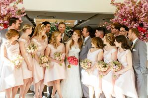 Blush, Retro Lela Rose Bridesmaid Dresses
