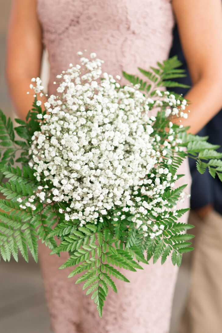 Baby's Breath and Fern Bouquet