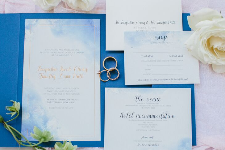 Blue Watercolor Stationery Suite