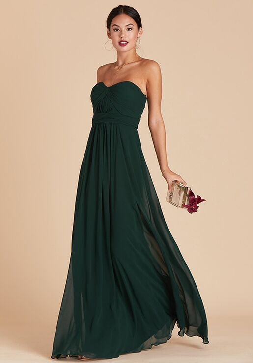 Birdy Grey Grace Convertible Dress in Emerald Sweetheart Bridesmaid Dress