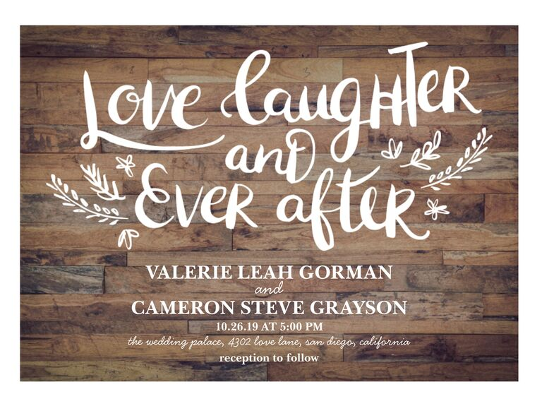 33 Rustic Wedding Invitations For A Country Chic Affair